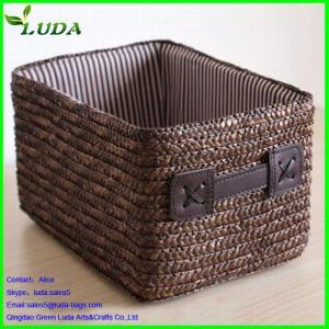 Quality straw woven storage basket for sale