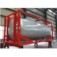 ISO tank container tanker trailer for diesel fuel , petrol , palm oil transporta