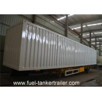 Quality Van type cargo transport box semi trailer for coal , dinas bulk building material for sale