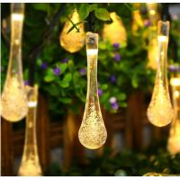 Solar Tear Drop Solar String Fairy Waterproof Lights garden decoration party festival use