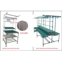 Quality Lean Pipe Rack Workstation Industrial Workbench Aluminum Plastic Coated Metal Joint for sale