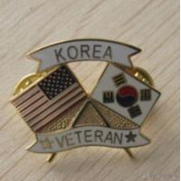 Quality Metal Flag Badges for sale