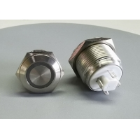 Quality 24V SS 4 Pin 16mm 2NO2NC Flat Led Momentary Push Button Switch for sale