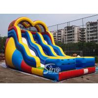 Quality 18 ft high adults colorful double lane inflatable slide for outdoor enterainment for sale