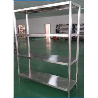 Quality Heavy Duty Shelving Stainless Steel Display Stands , Warehouse Rack System for sale