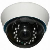 Quality 4.5-inch CCTV Plastic IR Dome Camera in White Color and 420 to 700TVL Resolution, 21-piece LED Light for sale
