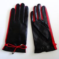 Quality Classical Leather Shearling Gloves Lining Wool Ladies Leather Gloves OEM for sale