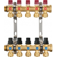 Quality 6212 Hot Forged Brass Water Distribution Manifolds from 2 to 8 Branches with External Flowrate Tuners for branch supply for sale