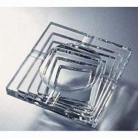 Quality K9 Crystal Ashtray, Available in Various Shapes, Customized Logos are Accepted for sale