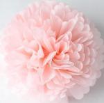 Quality Light Pink Party Decoration Paper Flower Tissue Paper Pom Poms Balls Craft for sale