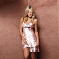 Quality Lady's Sleepwear/Strap Dress with Elegant Lace, Made of Satin or Silk for sale