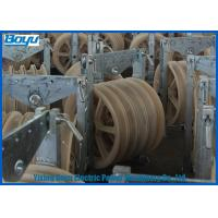 China Transmission Line Stringing Mounted Pulleys for Steel Cable Wire Rope , Galvanized Steel Frame on sale