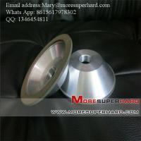 Quality 12C2 tapered cup bowl shape resin bond Diamond grinding wheel Mary@moresuperhard.com for sale