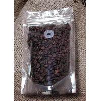 Quality Food Packing Transparent Coffee Bean Zipper Plastic Bag With Valve Custom Made for sale