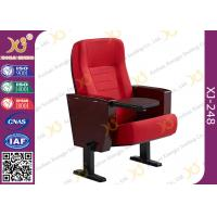 China Powder Coating Finish Legs Auditorium Theater Seating Furniture With Tablet on sale
