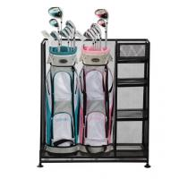 Quality Golf  Sports Organizer Steel Wire Shelving Rack Two Bag Garage Wire Mesh Racking for sale