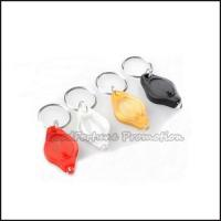 China HOT sale cheap promotional gift printed logo led plastic keychain keyrings on sale