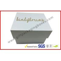 Quality Pearl white top and base box golden logo , smart watch box with PU pillow for sale