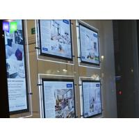 Quality Indoor Crystal LED Estate Agent Window Displays Slim Lightbox Energy Saving for sale