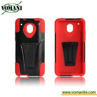 Quality PC + silicone case for HTC one/first M7 ,with T pattern stand for sale