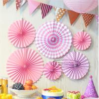Buy Candy Color Paper Fan Suit Wedding Dessert Table Decorations at wholesale prices