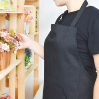 Buy cheap Adult Black Cotton Blend Apron with Adjustable Neck Strap Kitchen Aprons from wholesalers