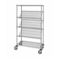 Quality OEM Commercial Wire Shelving  ,  5 Layer  Steel Slanted Shelving Unit For Company Promotion for sale