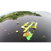 Quality Awesome Super Large Bay Inflatable Water Park , Yellow Water Sports For Ocean for sale