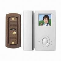 Quality B/W and Color Video Intercom System with Pin-hole Camera and Supports 2 Outdoor Units for sale