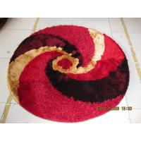 Quality Round Circle Polyester Thick Yarn Mixed Thin Yarn Shaggy Carpet and Rug for sale