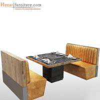 China Contemporary Fabric Restaurant Booth Furniture , Wooden Coffee Shop Booths on sale