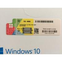 Quality Microsoft Windows 10 Pro Msdn COA Sticker Won'T Blocked DHL Free Shipping for sale