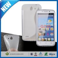 Quality Clear S Line Gel Soft TPU Cell Phone Protective Cases , Huawei Ascend G730 Case for sale