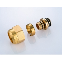 Quality 6213Y Hot Forged Brass Ball Valve Water Distribution Manifolds 45mm branch spacing W/ Main Supply & Return Air Exhausts for sale