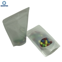 China Moisture Barrier Clear Window Zip Top Mylar Stock Packaging Bags on sale