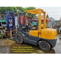 Quality TCM FD30 Used 3 Ton Forklift Truck Japan Made Hydraulic System With Side Shift for sale