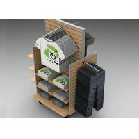 Quality Strong Flooring Slatwall Shelves Shop Display Stands With Silver Aluminum Slot for sale