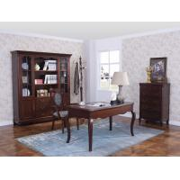 Quality Rubber Wood Home office room furniture bookcase set by Glass door with Shelves and Study desk Computer table for sale