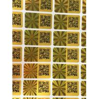 China Gold Color Laser Custom Security Hologram Stickers , 3d Holographic Stickers Label on sale