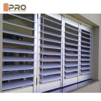 Buy Horizontal Opening Aluminium Louver Window Australia Standard Powder Coated Customized Color at wholesale prices