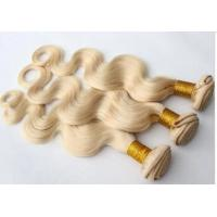 Quality Top Quality 10inch 100% Human Hair White Blond Body Wave Hair Weave for sale