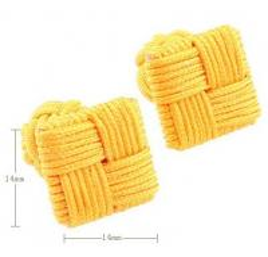 Colorful Silk Knot Cufflinks