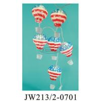 Quality July 4th USA String Paper Balloon Lanterns , Floating Paper Lantern Balloons 13 X 22cm for sale
