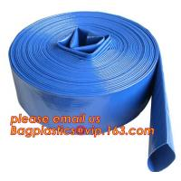 China Liquid PVC Layflat Discharge Tubing High Pressure Water Hose 40MM For Agriculture Project on sale