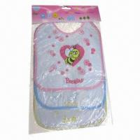 Customized baby bibs set, three designs for the whole day, BPA-free material