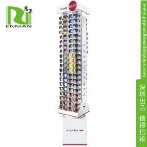 China Advertising pop display shelf Corrugated Paper rotating sunglasses display rack on sale