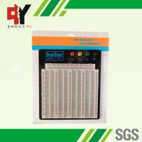 Quality ABS Plastic Soldering Breadboard Transparent With Black Aluminum Plate for sale