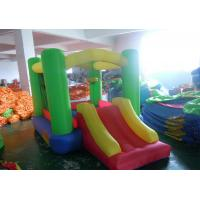 Quality Oxford fabric inflatable house small bounce for kids with slide for sale
