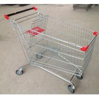 Quality 210L Wire Grocery Basket  Anti - Rust Steel 4 Wheel Shopping Trolley With Castors for sale