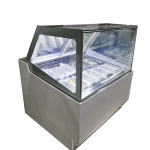 Quality Sliding Door Ice Cream Display Fridge Commercial Gelato Freezer Showcase for sale